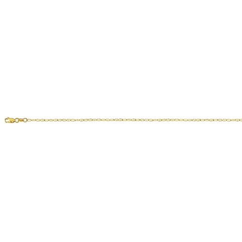 14K YG 2.2MM DIAMOND CUT OVAL TEXTURED ROLO CHAIN