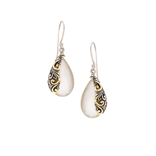 18 KT - SS WITH MOTHER OF PEARL EARRINGS