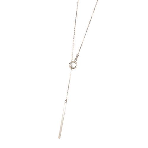 SSRHD ITALIAN POLISHED BAR LARIAT NECKLACE 26""