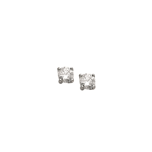 SS RHD 4mm ROUND BASKET SET CZ STUDS
