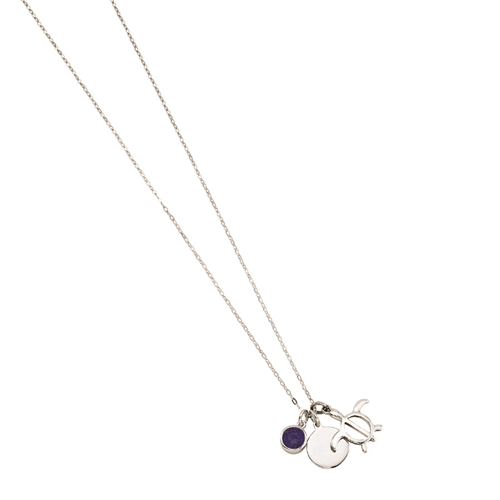 SSRHD TRIPLICITY TURTLE CHARM NECKLACE