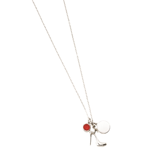 SSRHD TRIPLICITY HIGHHEEL CHARM NECKLACE