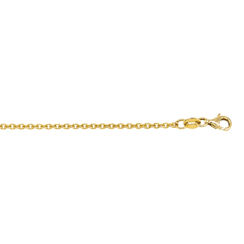 14K YG 1.8MM NON DIAMOND CUT CABLE CHAIN